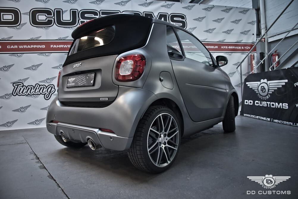 Custom Auspuff Smart fortwo brabus 453