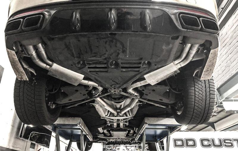 Mercedes S-Klasse S63 AMG Klappenauspuff